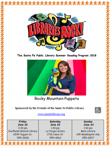 Rocky Mountain Puppets @ Southside Branch | Santa Fe | New Mexico | United States