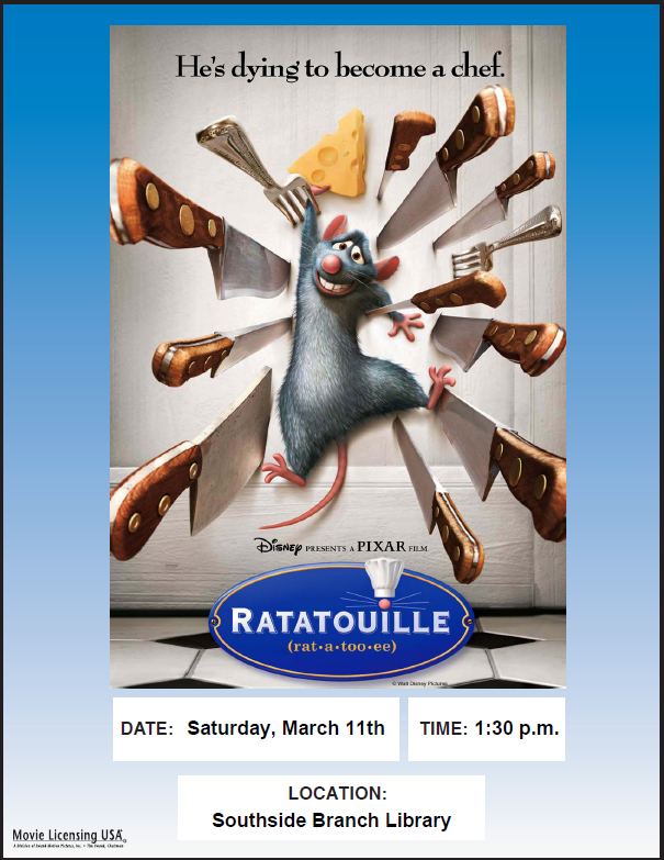 Ratatouille: Movie Matinee @ Southside Branch | Santa Fe | New Mexico | United States