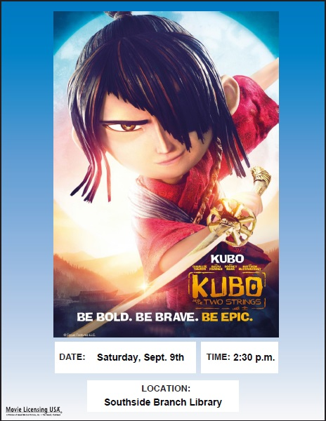 Kubo and the Two Strings: Movie Matinee @ Southside Branch | Santa Fe | New Mexico | United States