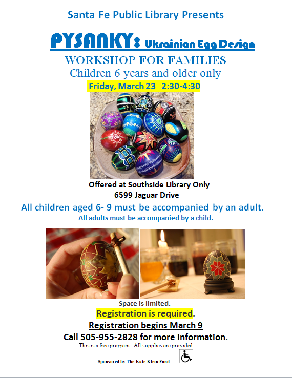 Pysanky Workshop @ Southside Branch | Santa Fe | New Mexico | United States