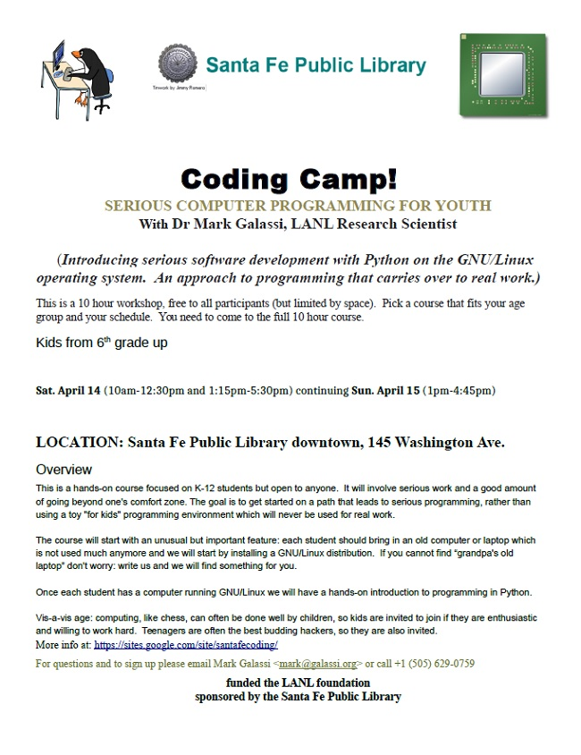 Computer Coding Camp @ Main Library | Santa Fe | New Mexico | United States