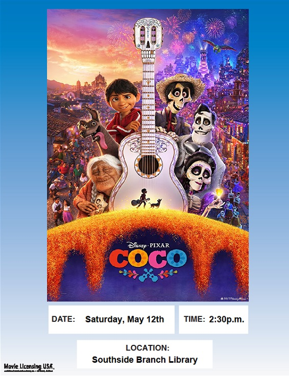 Movie Matinee: Coco @ Southside Branch   Santa Fe   New Mexico   United States
