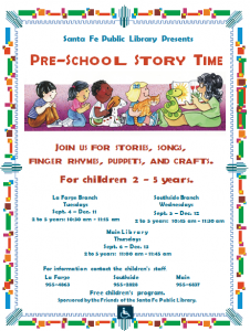 Preschool Story Time @ La Farge Branch | Santa Fe | New Mexico | United States