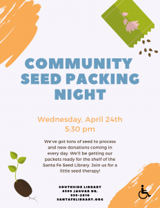 Community Seed Packing Night @ Southside Branch