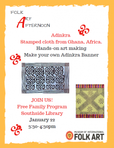 Folk Art Afternoon: Adrinka, Stamped Cloth from Ghana @ Southside Branch