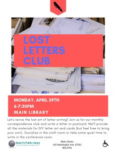 Lost Letters Club @ Main Library