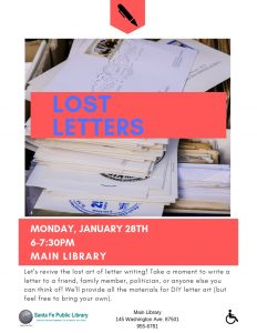 Lost Letters @ Main Library