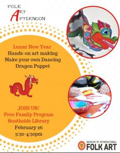 Folk Art Afternoon: Lunar New Year @ Southside Branch