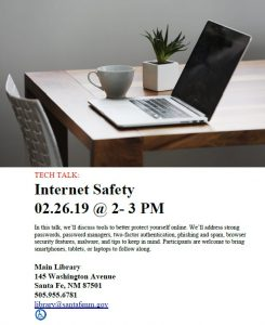 Tech Talk: Internet Safety @ Main Library