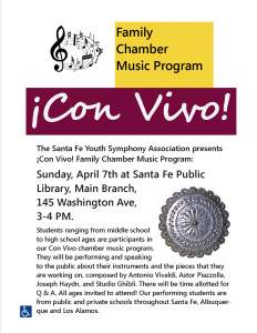 ¡Con Vivo! Family Chamber Music Program @ Main Library