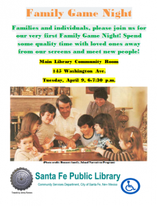 Family Game Night @ Main Library