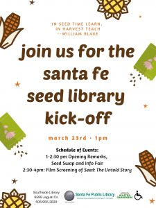 Santa Fe Seed Library Kick-Off @ Southside Branch