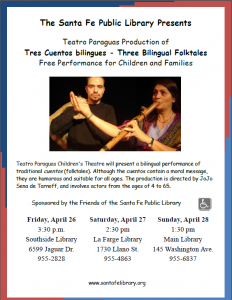 Teatro Paraguas Production of Tres Cuentos Bilingues @ La Farge Branch