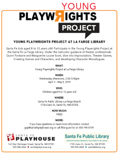 Young Playwrights Project @ La Farge Branch