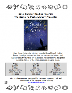 "Hampstead Stage Company ""Stories in the Stars"" @ La Farge Branch"