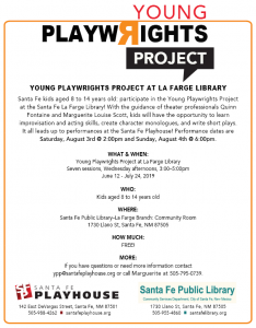 Young Playwrights Project at La Farge @ La Farge Branch