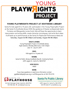 Young Playwrights Project @ Southside Branch