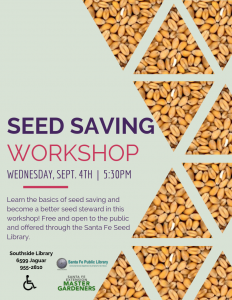 Seed Saving Workshop @ Southside Branch