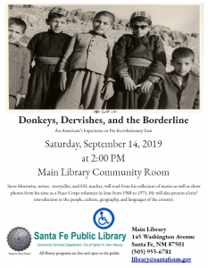 Donkeys, Dervishes, and the Borderline: An American's Experience in Pre-Revolutionary Iran @ Main Library