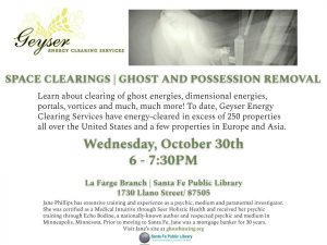 Ghost/Possession Removal and Energy Clearing @ La Farge Branch