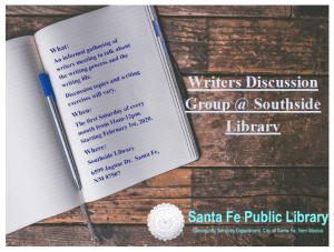 Postponed - Writers Discussion Group @ Southside Branch