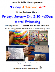 Friday Afternoon Art: Metal Embossing @ Southside Branch
