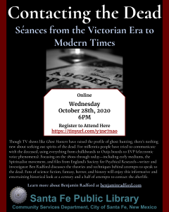 Contacting the Dead: Séances from the Victorian Era to Modern Times @ Online