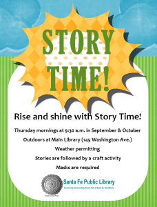 Outdoor Story and Craft Time at Main @ Main Library