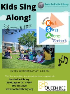 Kids Sing Along -  With Queen Bee Music Association @ Southside Library